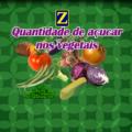 Quantidade de açúcar nos vegetais