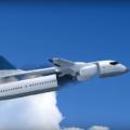 Aeronave com uma cabine destacável