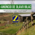"""O anúncio de Olavo Bilac – """"Valorize o que você tem"""""""