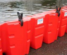 Esta barreira móvel montável podem parar uma inundação