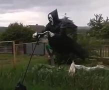 Motoqueiro Espantalho (Vídeo para descontrair)