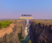 Um voo impressionante de 360° através do labirinto de Victoria Falls