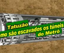 Como são escavados os túneis do metrô