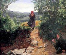 Todos nós vemos a camponesa segurando um Smartphone nesta pintura de 1860?